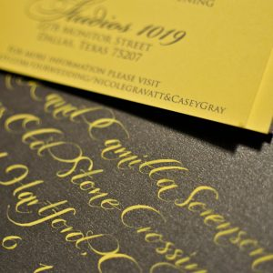 yellow grey wedding