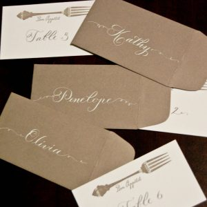 food themed wedding stationery