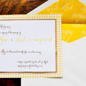 yellow and white wedding