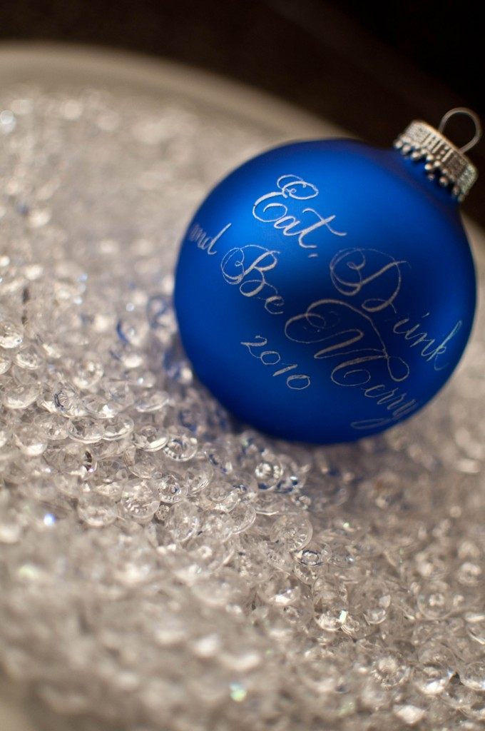 Personalized Calligraphy ornament