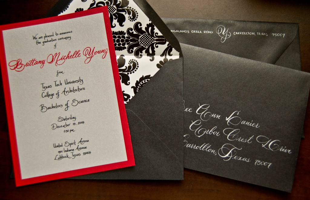 Texas tech calligrapher graduation announcements left handed texas calligrapher filmwisefo