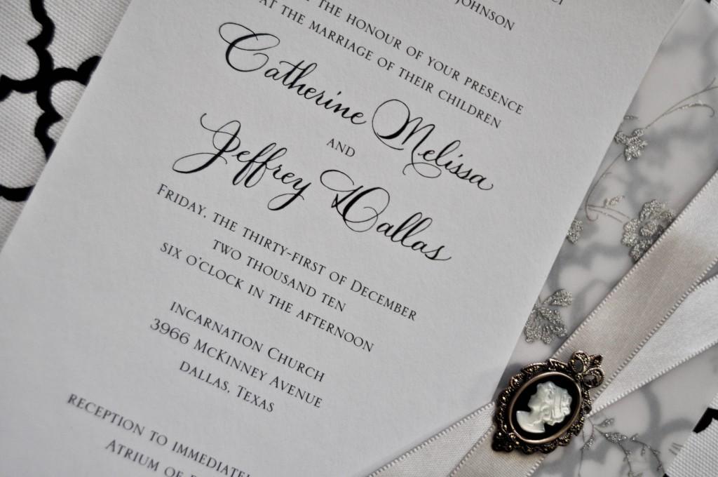 dallas calligrapher invitations