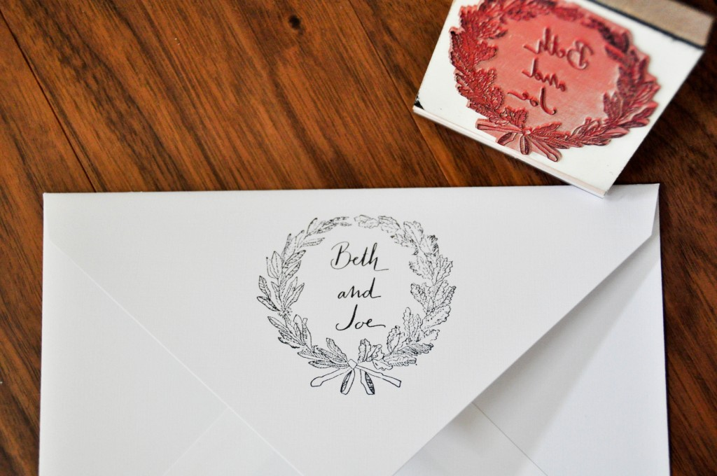 wreath stamp calligrapher