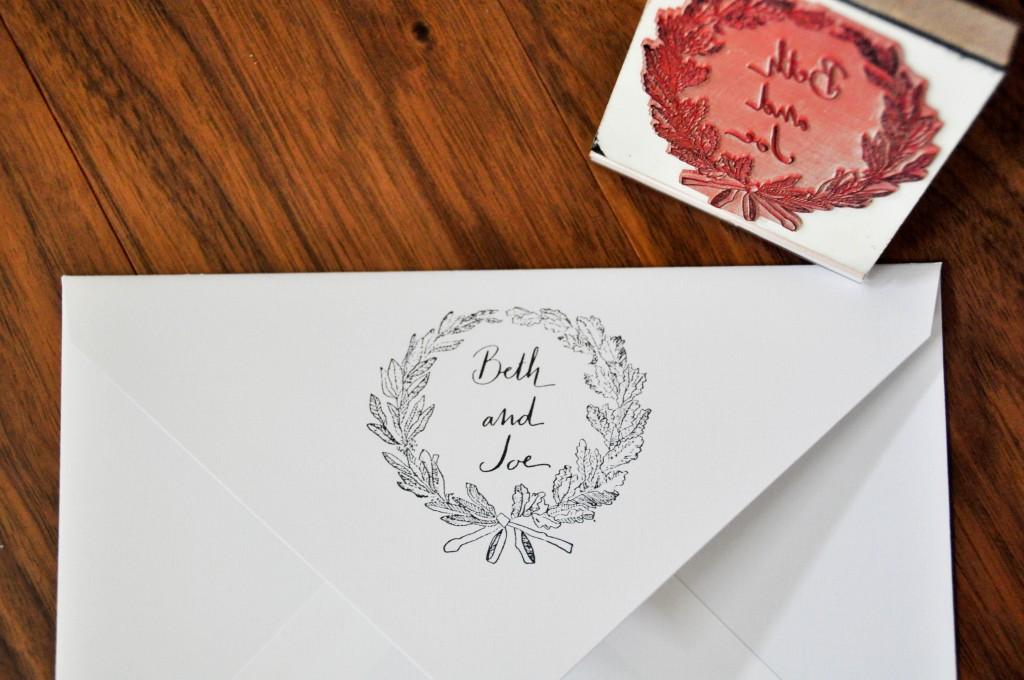 wreath stamp calligrapher