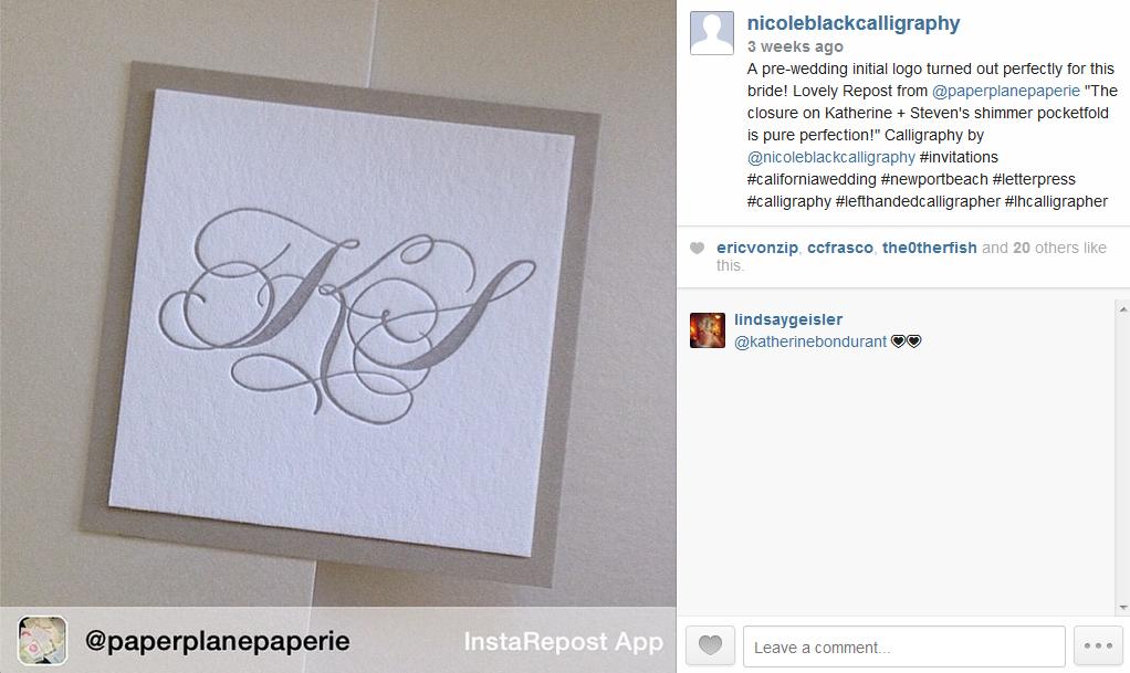 wedding calligraphy monogram