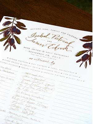 dallas texas wedding calligraphy