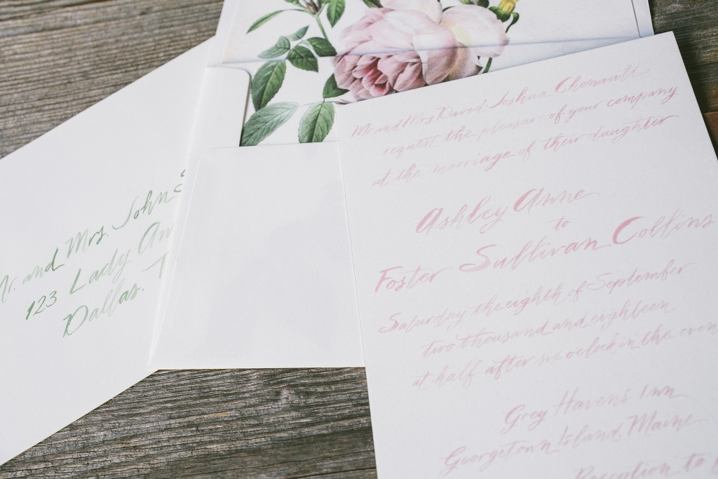 Wedding Invitation Brush Calligraphy