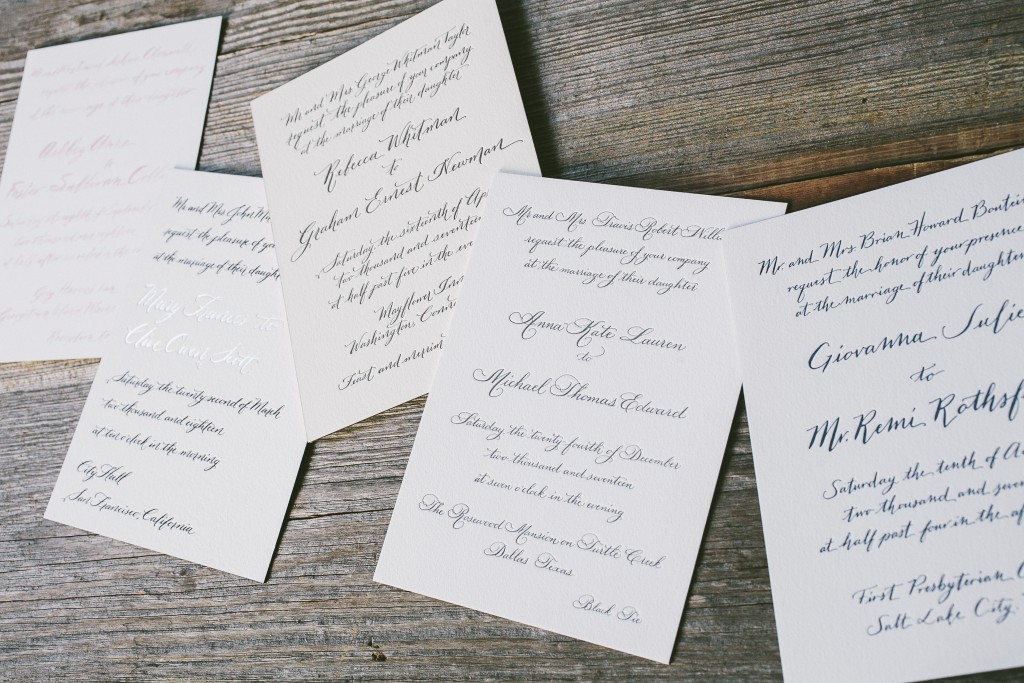 Modern Calligraphy Invitations