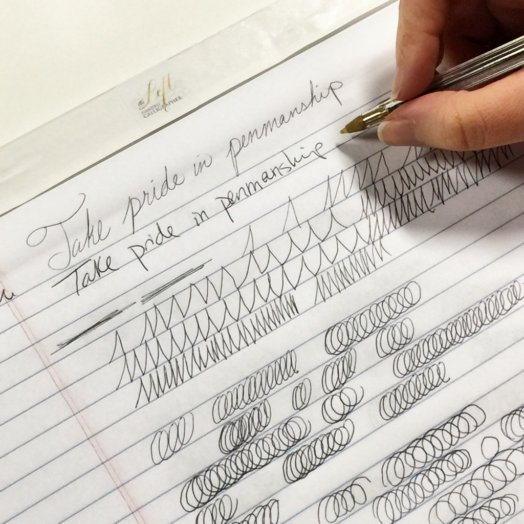 handwriting penmanship calligraphy workshop class dallas