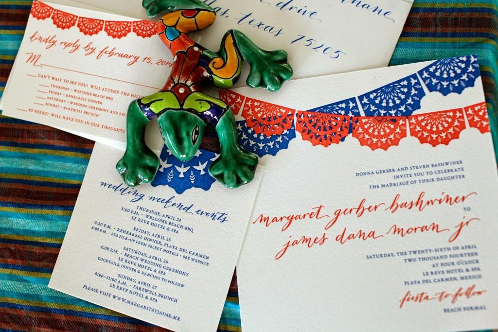 modern calligraphy destination wedding invitations letterpress