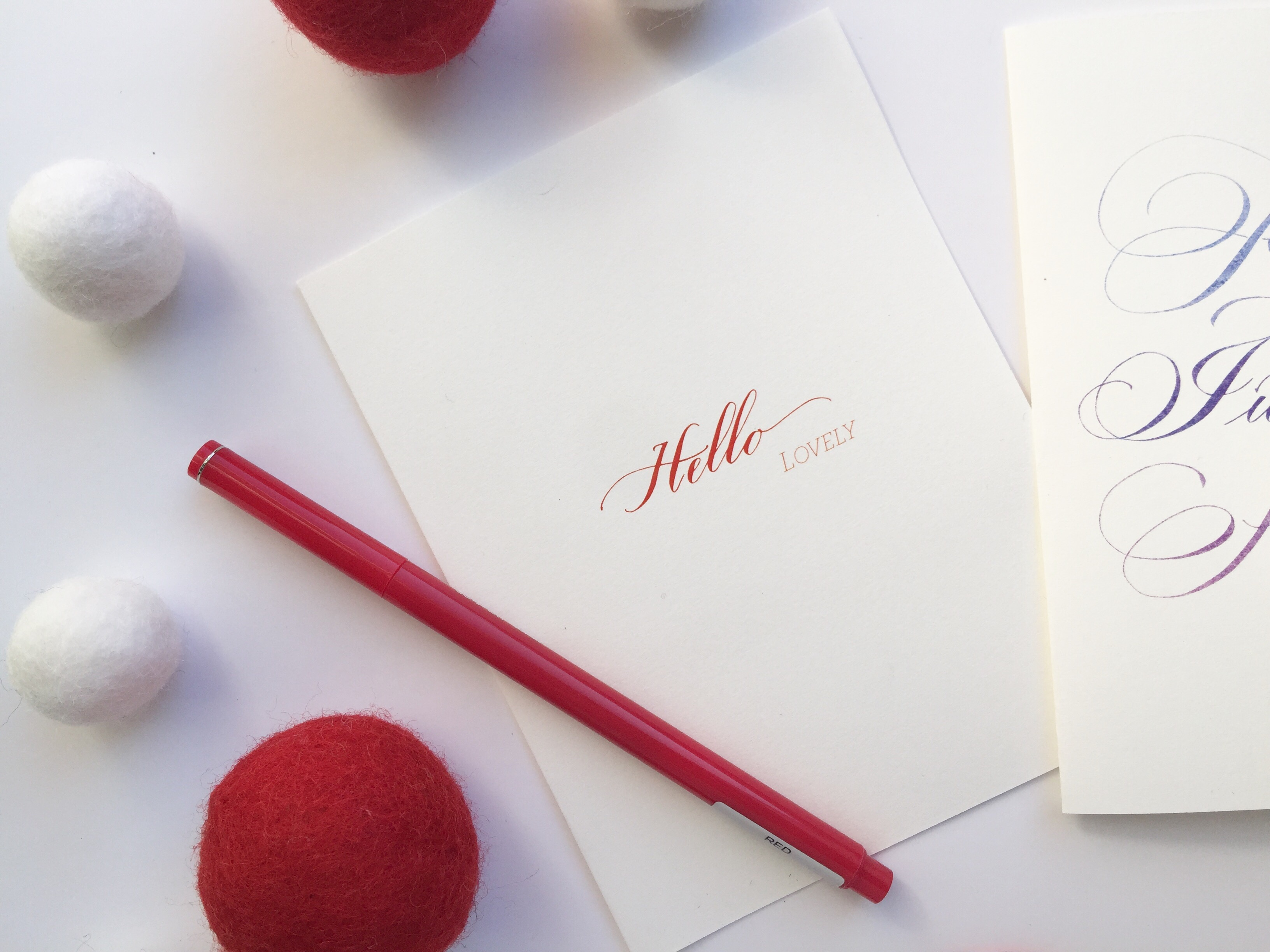 calligraphy greeting card