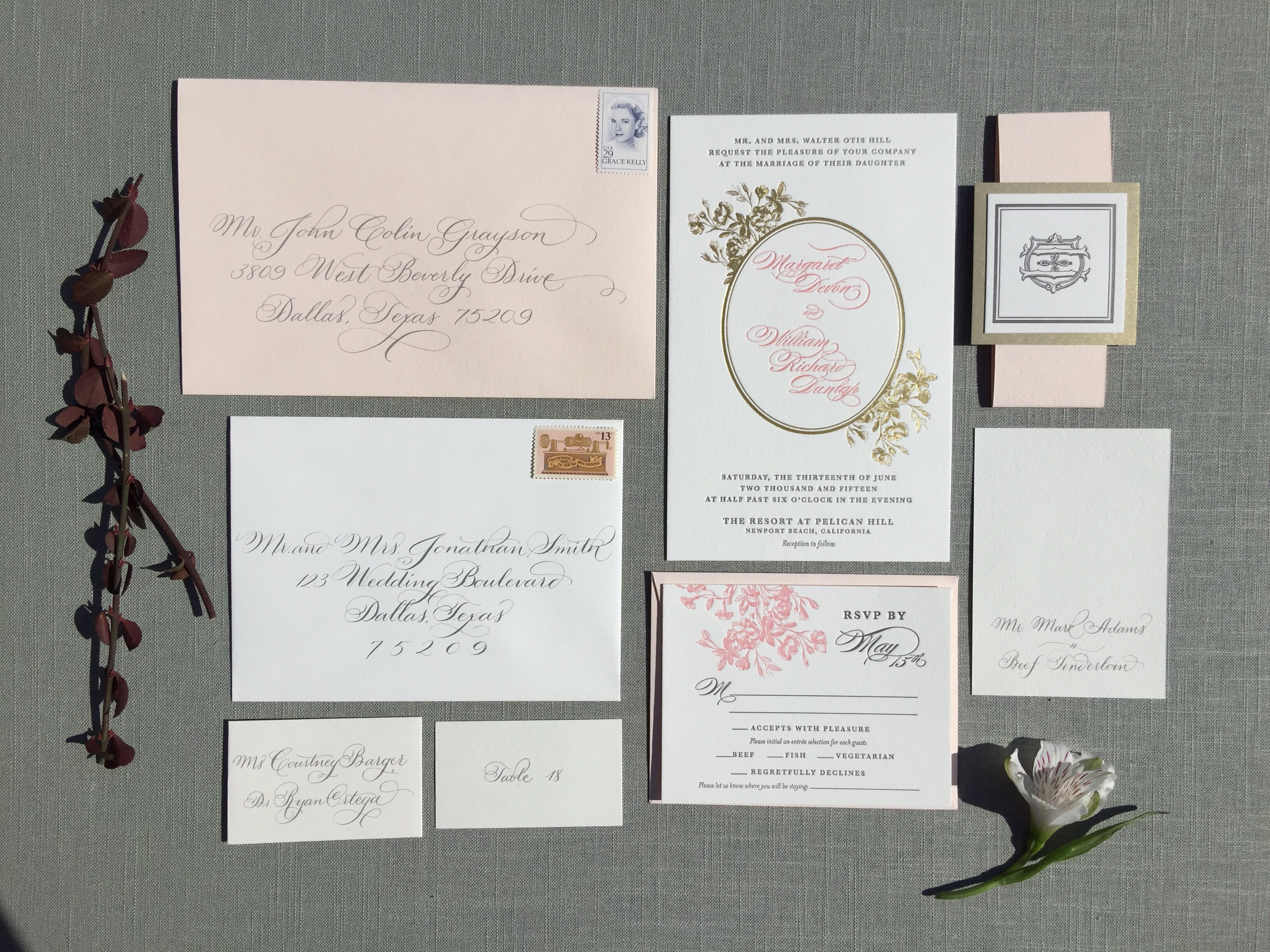 best dallas wedding calligrapher