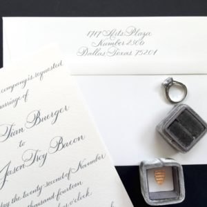 Traditional Classic Dallas Wedding Calligraphy – Emily Clarke Events