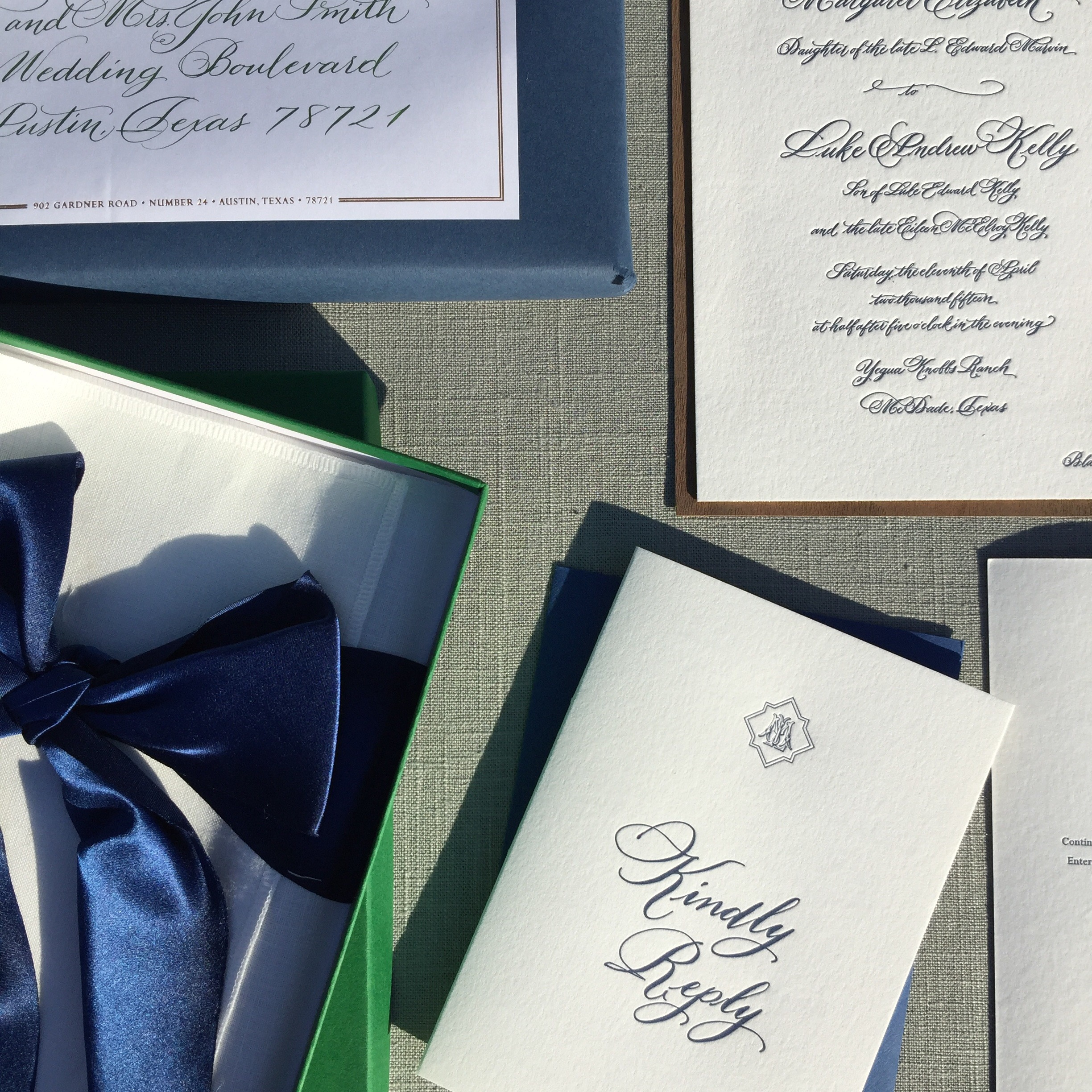 austin wedding calligrapher