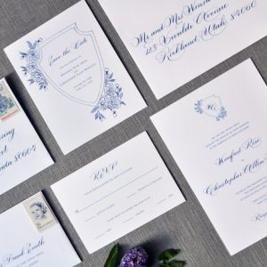 Wedding calligraphy invitations