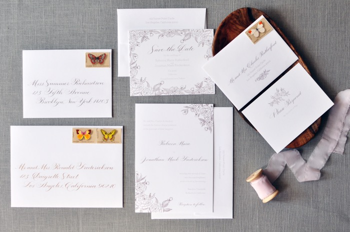 budget wedding calligraphy