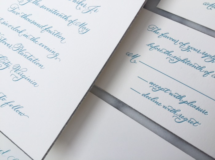 virginia luxury wedding calligrapher