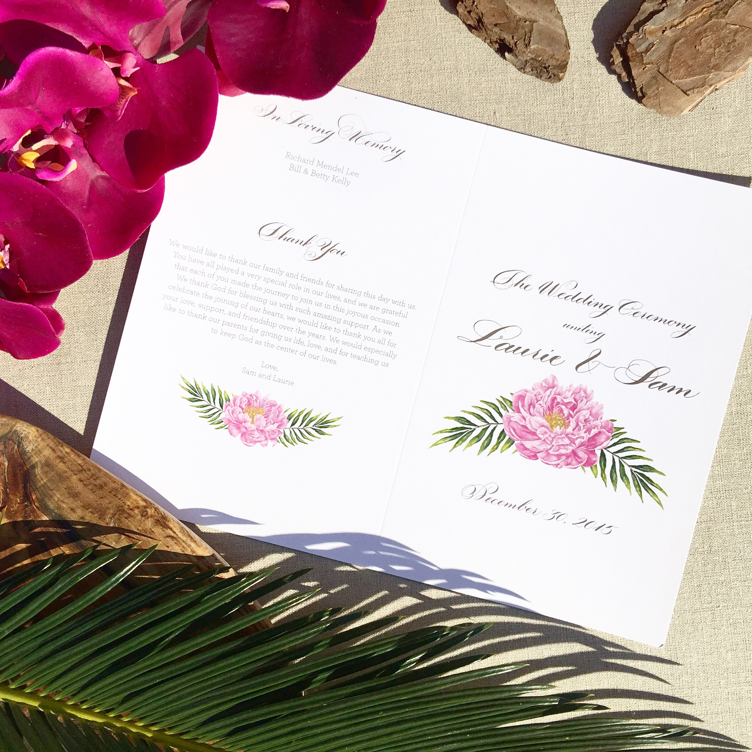 destination wedding stationery calligraphy
