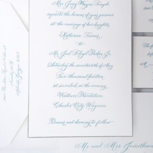 Wedding invitation – VA Calligraphy