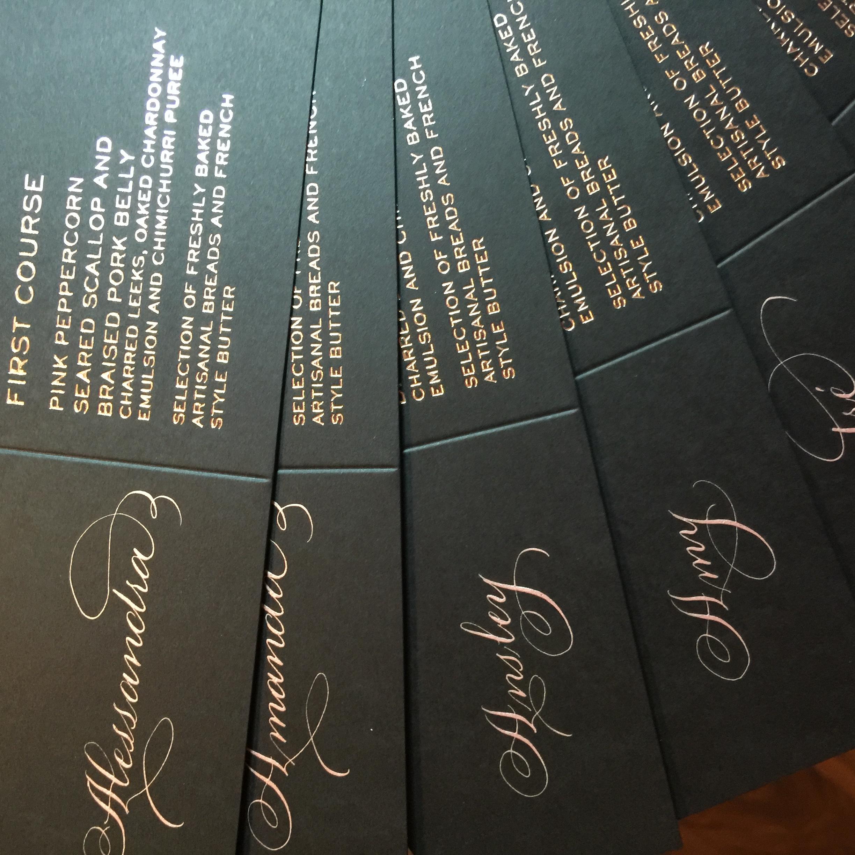 The Left Handed Calligrapher Plano Tx Wedding Invitation