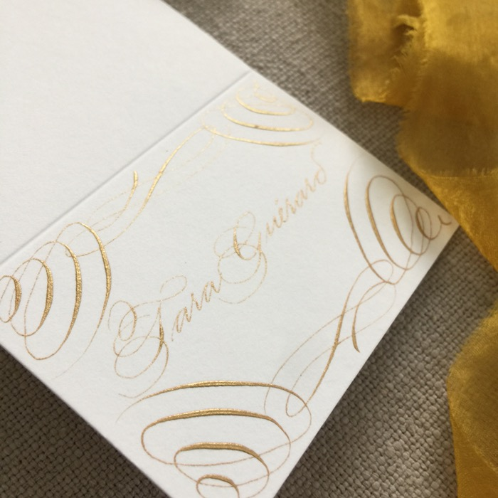 classic wedding calligrapher luxury