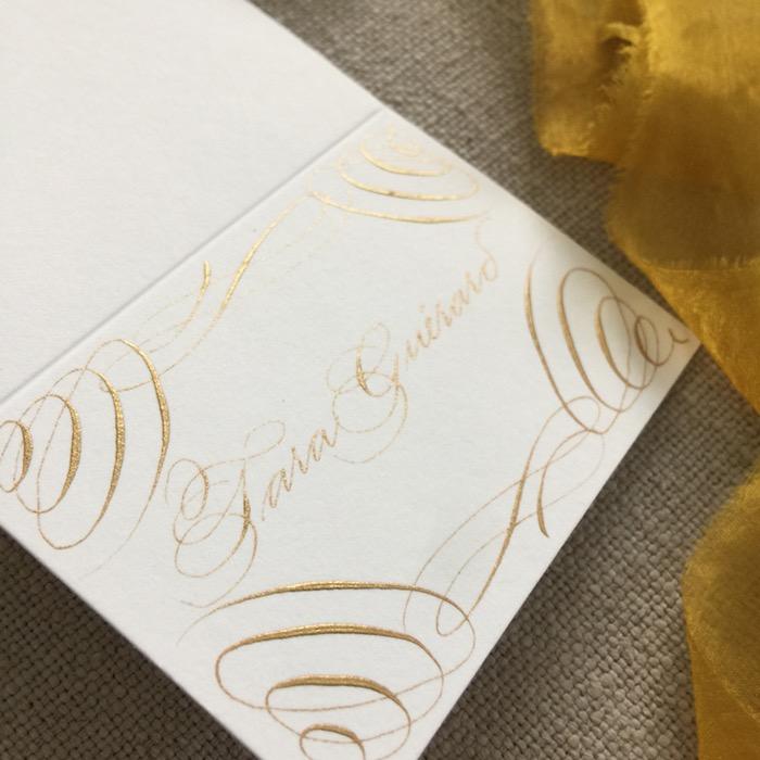 classic wedding calligrapher luxury