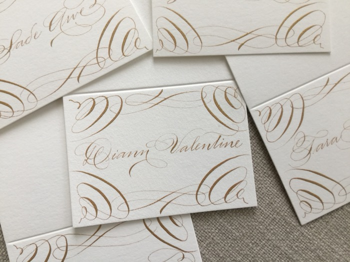 luxury california wedding calligrapher