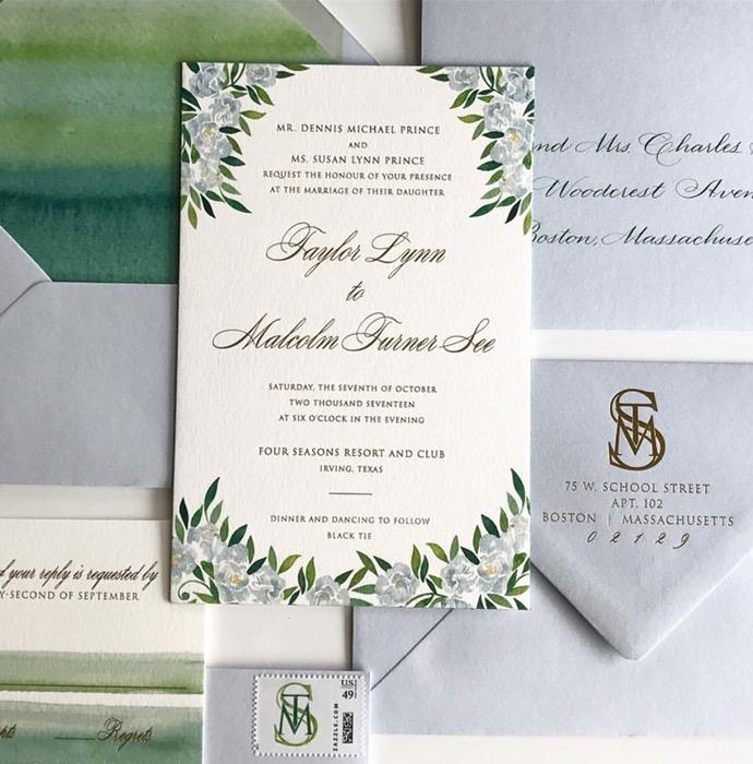dallas wedding calligrapher