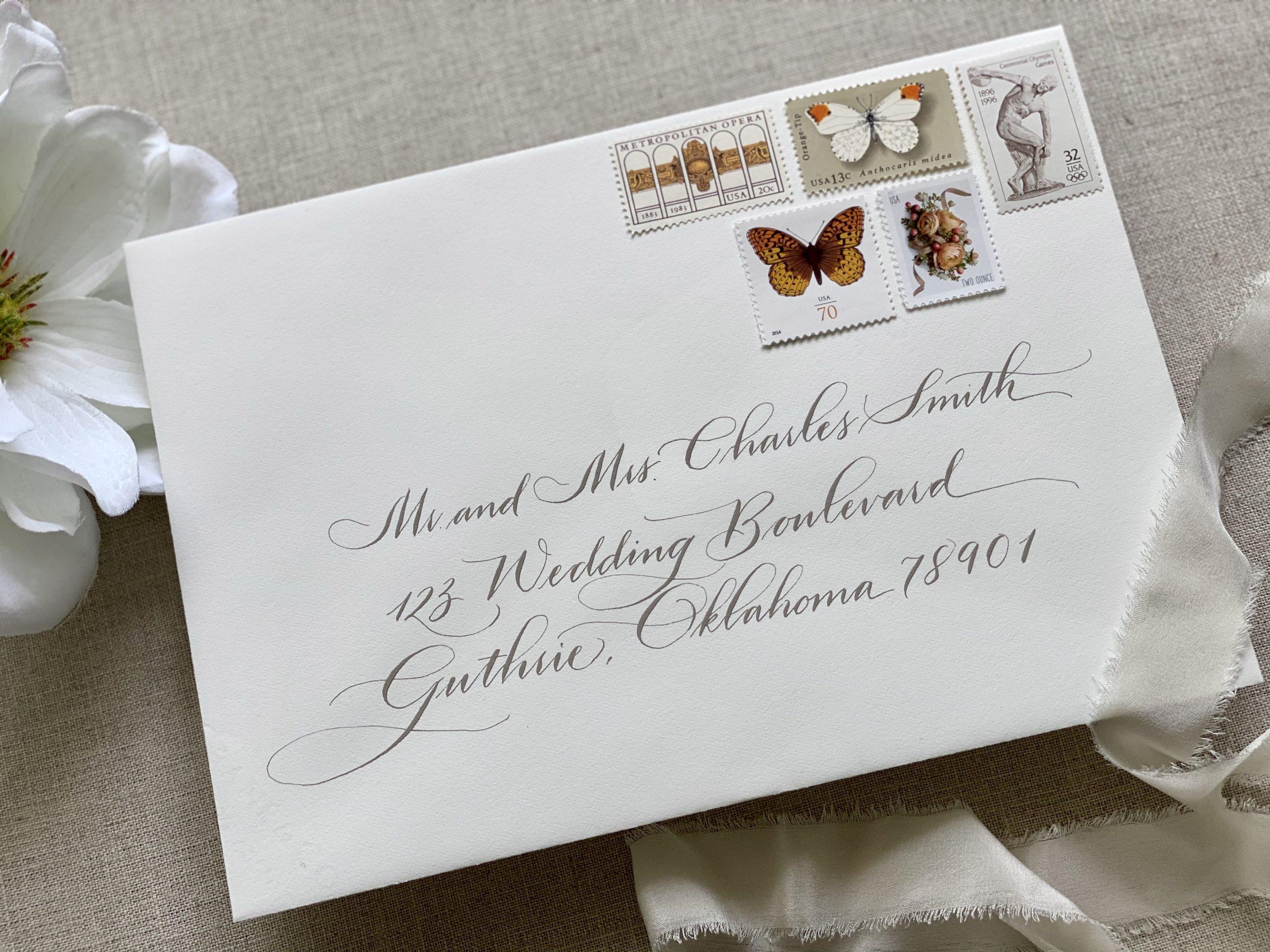 updated traditional wedding calligraphy