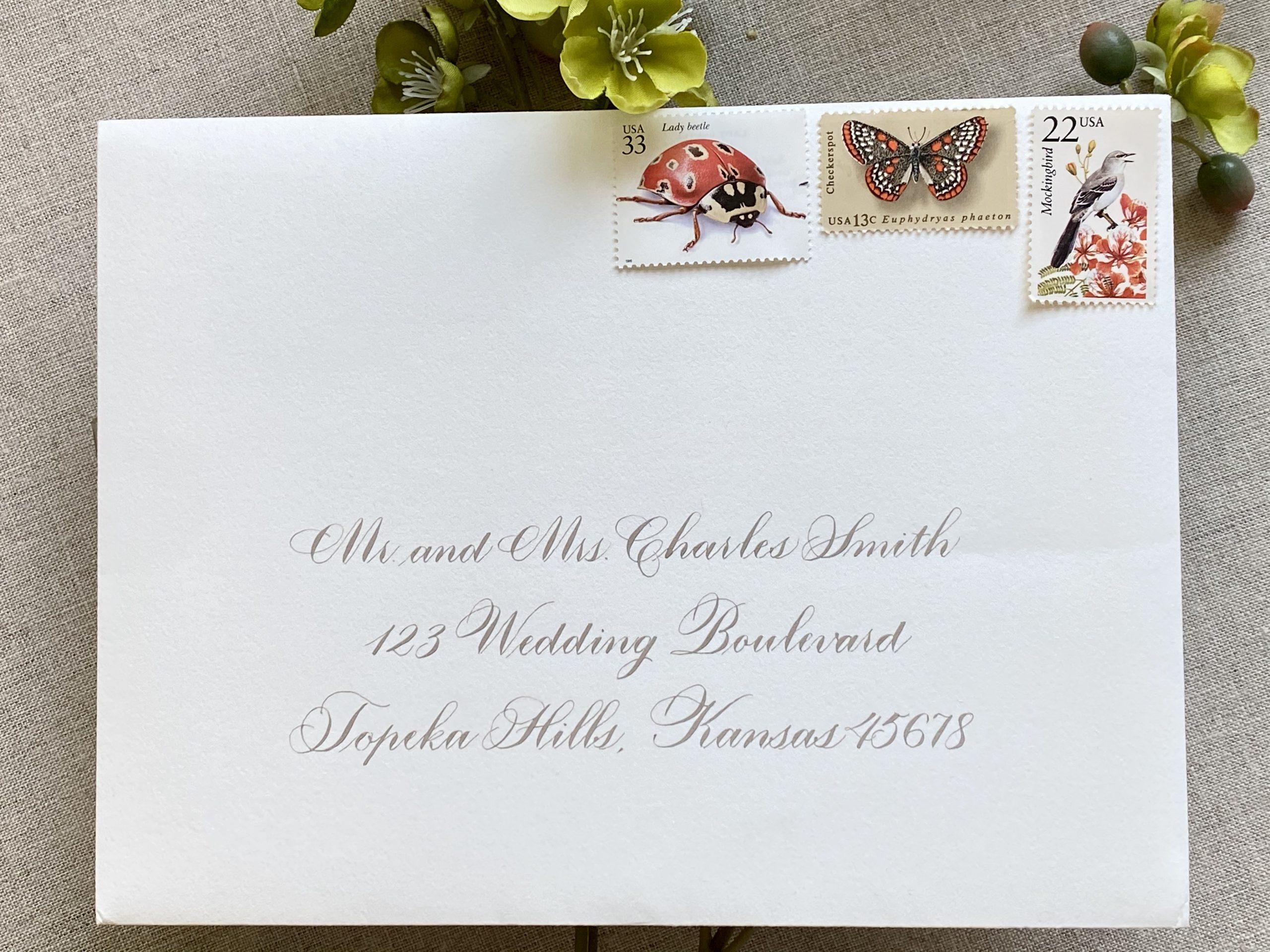 tradtional wedding calligraphy