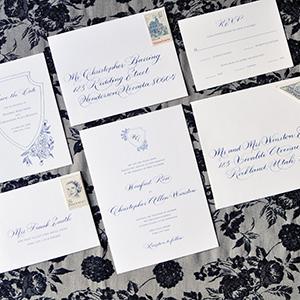 luxury calligraphy wedding invitations