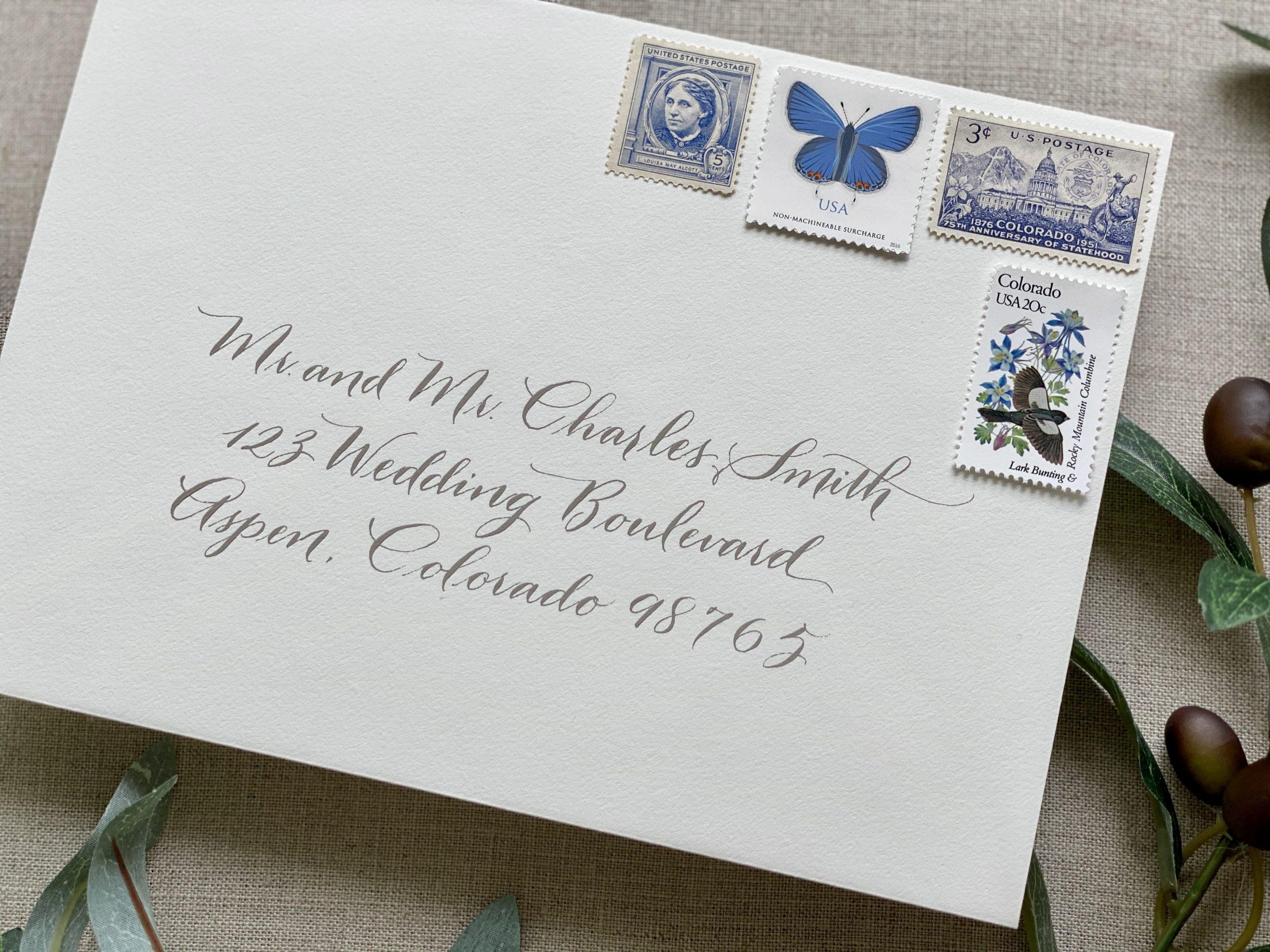 loose wedding calligraphy