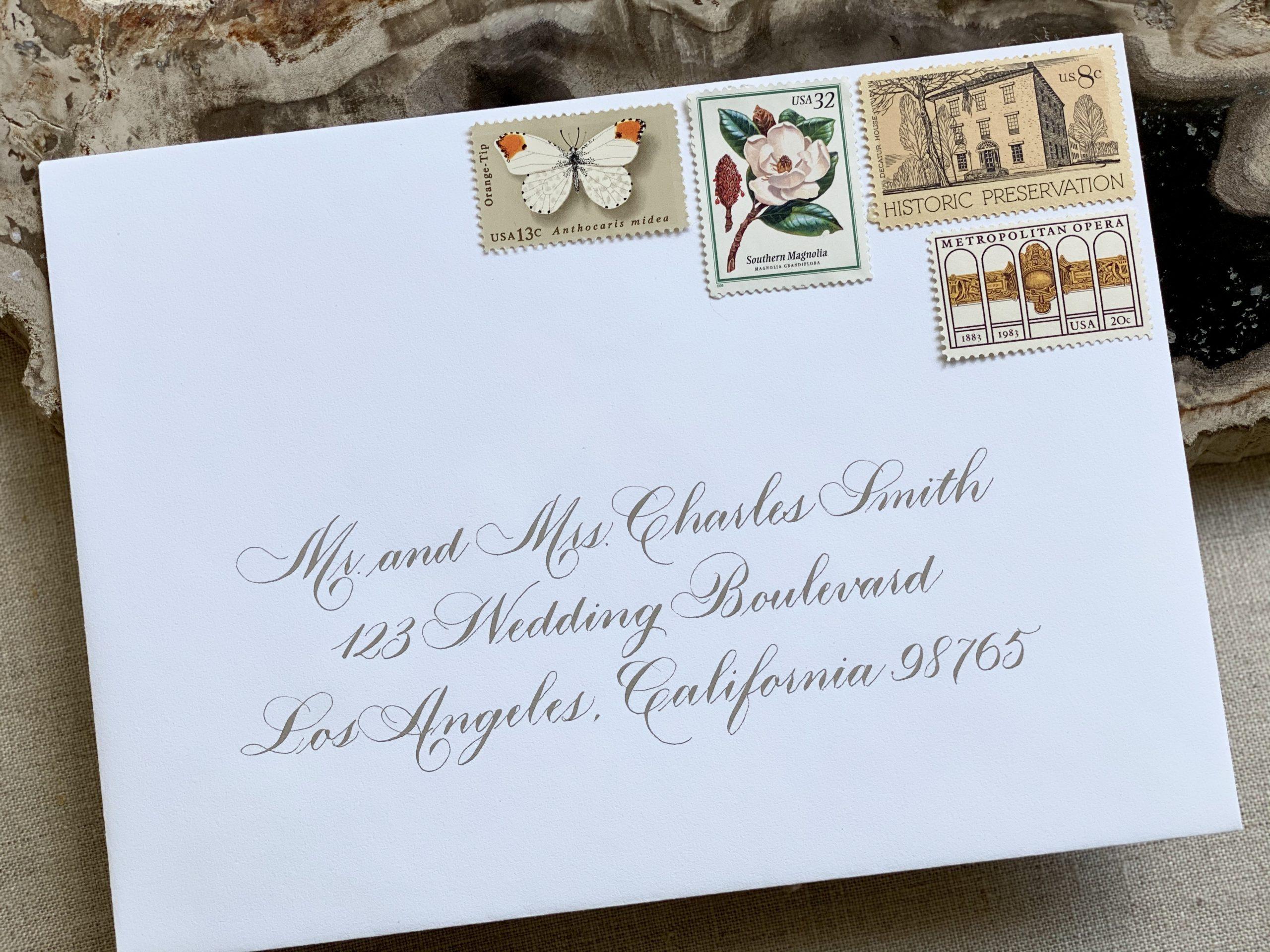 traditional wedding envelope addressing